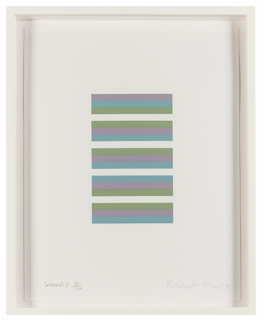 Bridget Riley, 'Intervals 2', 2019, RAW Editions