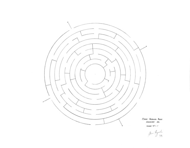 , 'Maze: Original Plan,' 1973, Galerie Thomas Schulte