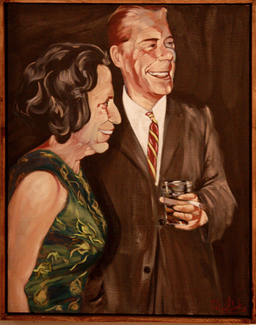 """""""Cocktail Party at 8pm"""" by Dave Hardin. Oil on Linen. 32"""" x 40"""""""