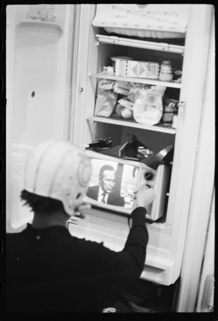 , 'Basquiat performing in the apartment X,' ca. 1979-1980, CaribBeing