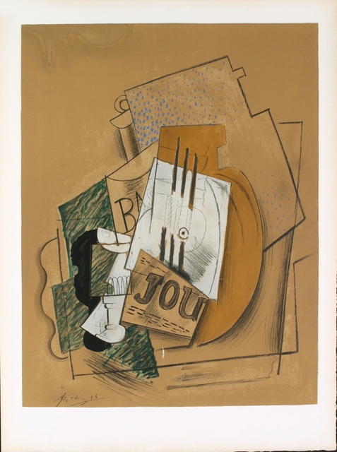 Pablo Picasso, 'Still Life with Bottle of Bass', 1956, ArtWise