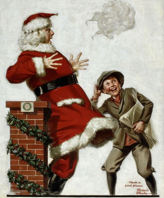 Frederic Stanley, 'Santa in the Wind', 1921, Painting, Oil on Canvas, The Illustrated Gallery