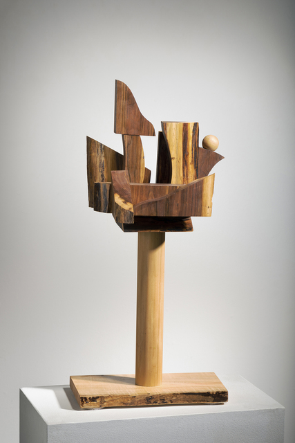 """Betty McGeehan, 'Minimal Wood Abstract Sculpture: """"Cliff-side', 2018, Ivy Brown Gallery"""