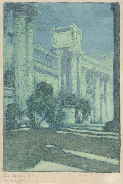 Benjamin Chambers Brown, 'Art Palace, S.F. Moonlight (Panama Pacific International Exposition)', 1915, de Young Museum