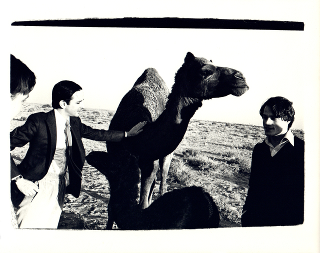 Andy Warhol, 'Andy Warhol, Photograph of Fred Hughes and Jed Johnson with Camel in Kuwait 1977', 1977, Hedges Projects