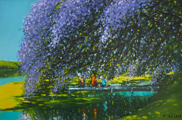 Le Thanh Son, 'At The River', 2018, Painting, Oil on Canvas, Ai Bo Gallery