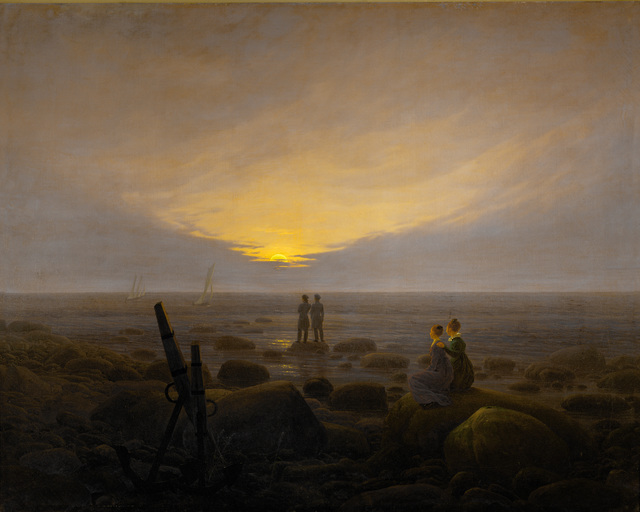 Caspar David Friedrich, 'Moonrise on the Seashore', 1821, Erich Lessing Culture and Fine Arts Archive