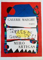 Joan Miró, Galerie Maeght Paris, Rerres de Grand Feu, MIRO ARTIGAS