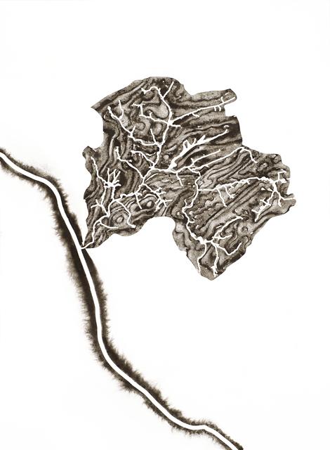 Lauren Rosenthal McManus, 'Alexauken Creek', 2017, Drawing, Collage or other Work on Paper, Ground rock, water, and gum arabic on paper, Garvey | Simon