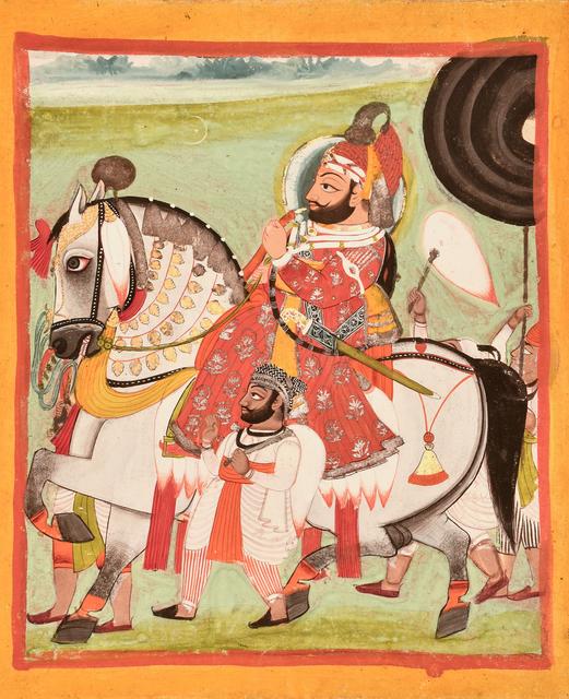 , 'An Equestrian Portrait of Maharana Bhim Singh of Mewar,' Mid 19th century, Kapoor Galleries / Graham Shay 1857
