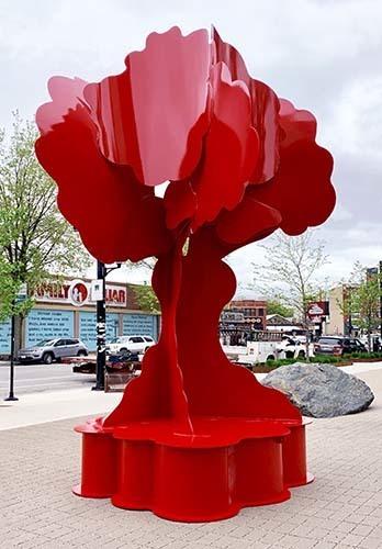 , 'Red Dancing Cloud Tree,' 2019, International Sculpture Center