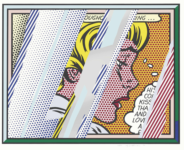 Roy Lichtenstein, 'Reflections on Girl, from: Reflections Series', 1990, Print, Lithograph, screenprint and relief in colours, with metalized PVC collage with embossing, on Somerset paper, Christie's