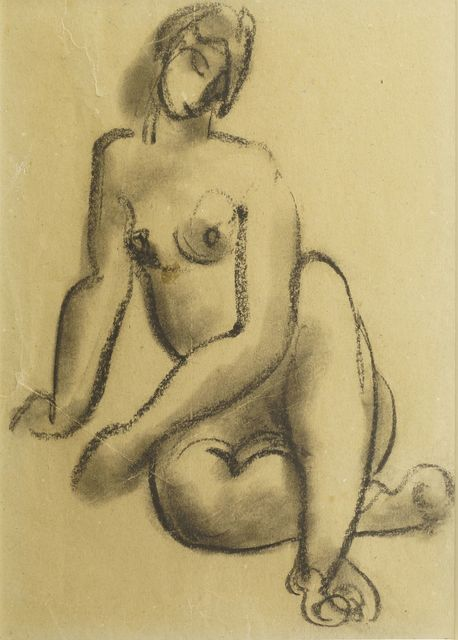 European School, 'Seated female nude', Roseberys