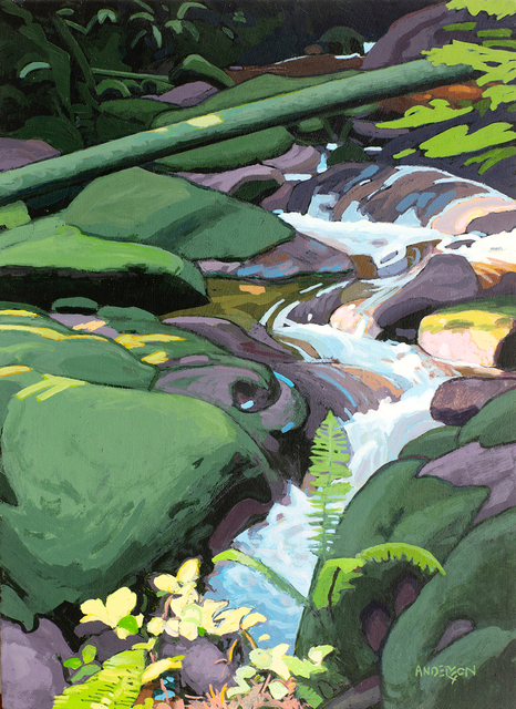 Clayton Anderson, 'Mountain Stream', 2020, Painting, Acrylic on Board, Madrona Gallery