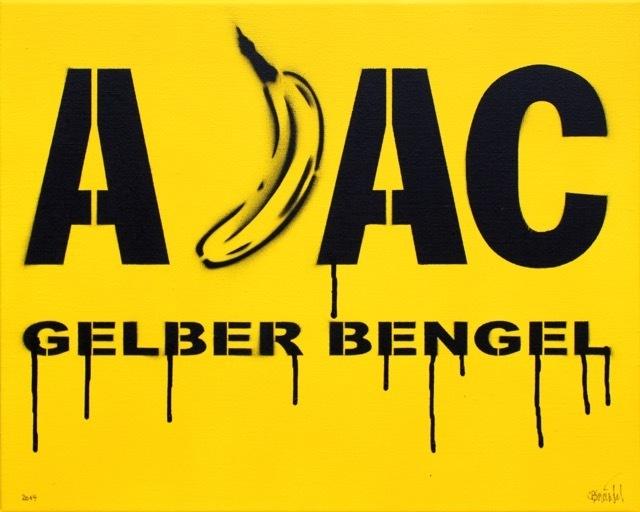 Bananensprayer Thomas Baumgärtel, 'Gelber Bengel', 2014, Galerie Kronsbein