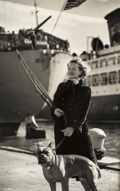Ronny Jaques, 'Bette Davis, walking her dog in New York docks', Forum Auctions