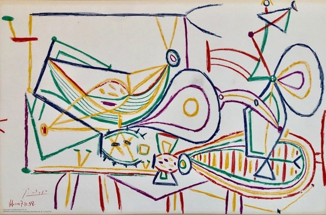 Pablo Picasso, 'Pablo Picasso School Prints Composition, Vallauris 7-10-1948 Drawing Lithograph', 1940-1949, Print, Lithograph, Lions Gallery