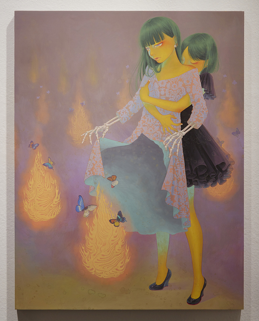 , 'Flame of This World and The Other World,' 2015, Jonathan LeVine Projects