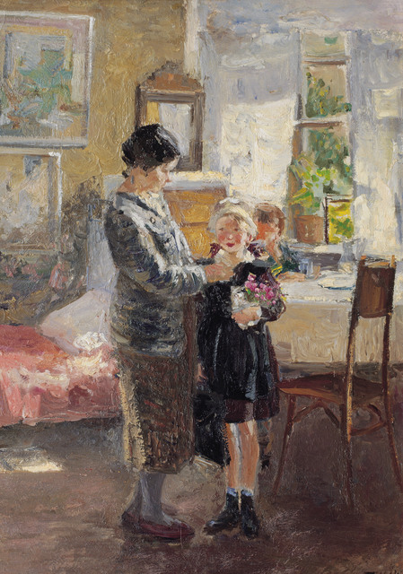 , 'First day of the school year,' 1946, Surikov Foundation