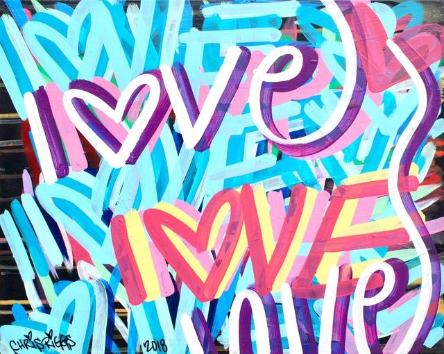 , 'Love Canvas 10,' 2018, Open Mind Art Space