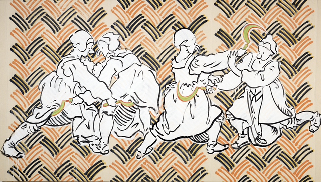, 'Peasants fighting with sickles,' 2017, Annely Juda Fine Art