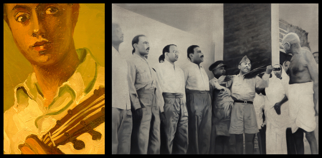 , 'Ex-officers of the Indian National army, New Delhi, April 1946,' 2014, Templon