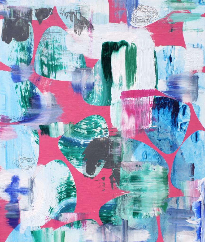 "Alison Rash, ""Another Reminder"", 2019, Flashe/acrylic on Yupo mounted on panel, 26 x 20 in. (66 x 50.8 cm)"