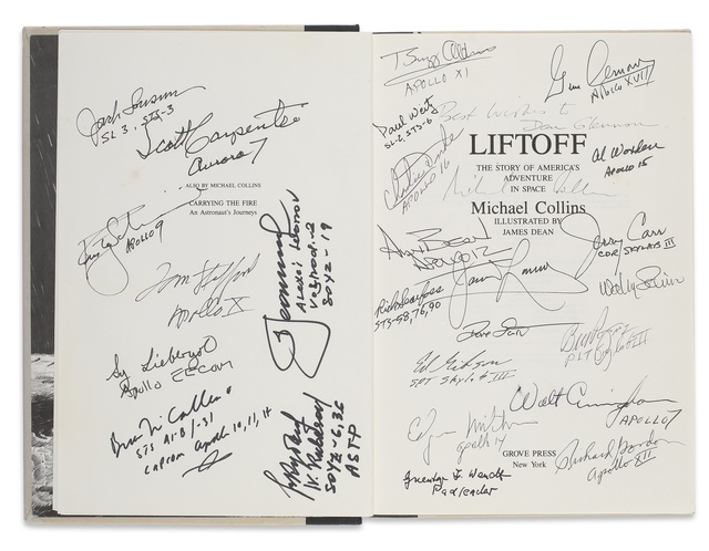 Michael Collins, 'LIFTOFF. THE STORY OF AMERICA'S ADVENTURE IN SPACE.  NEW YORK: GROVE PRESS, 1988', Sotheby's
