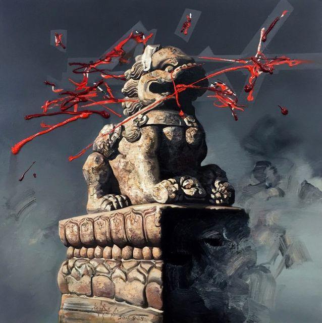 Zhong Biao, 'Lion's Roar at Lugou Bridge ', 2015, Yang Gallery