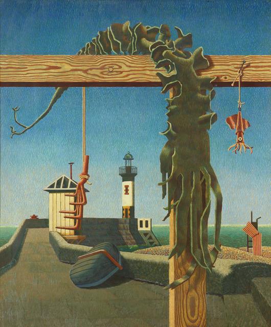 , 'Quiet Outlook / Seaweed & Lighthouse,' 1942, Osborne Samuel