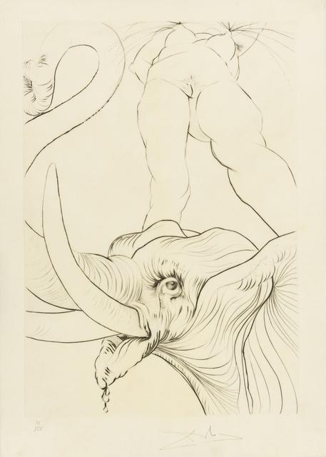 Salvador Dalí, 'Maintenant c'est le soir... (M&L 595; Field 73-8.J)', 1973, Print, Engraving, Forum Auctions