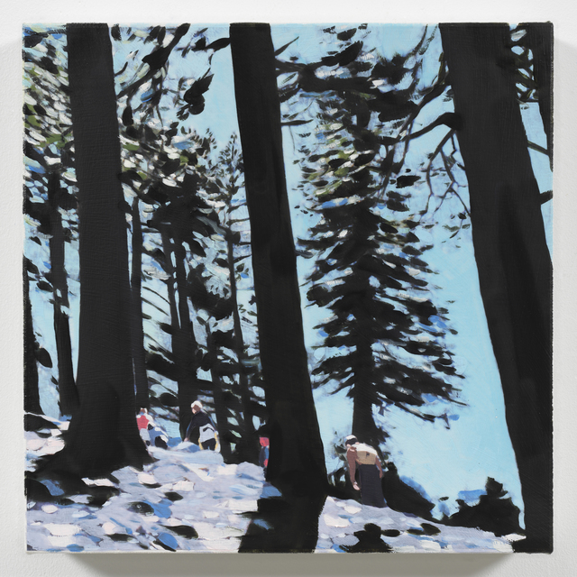 Isca Greenfield-Sanders, 'Day Hike', 2018, Painting, Mixed media oil on canvas, Berggruen Gallery