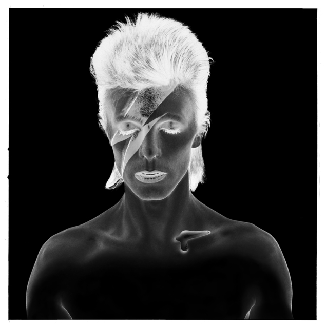 , 'David Bowie: Aladdin Sane, Negative,' 1973, ElliottHalls