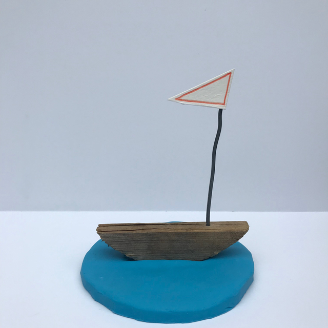 , 'Became a sail boat before I knew it.,' 2018, Richard Levy Gallery