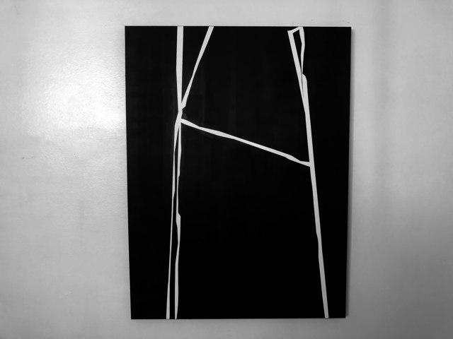 , 'H,' 2018, Wallspace