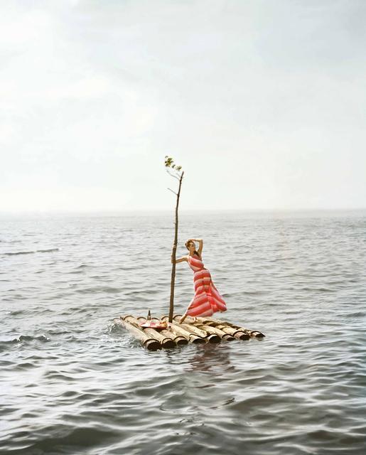 William Helburn, 'Raft: Lucinda Hollingsworth, off Westhampton Beach, New York, Supima', 1959, Staley-Wise Gallery
