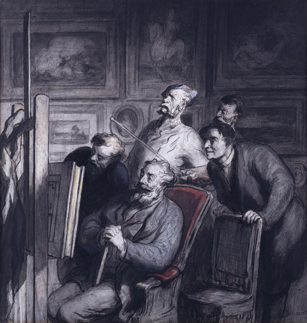 Honoré Daumier, 'The Amateurs', 1865-1868, Walters Art Museum