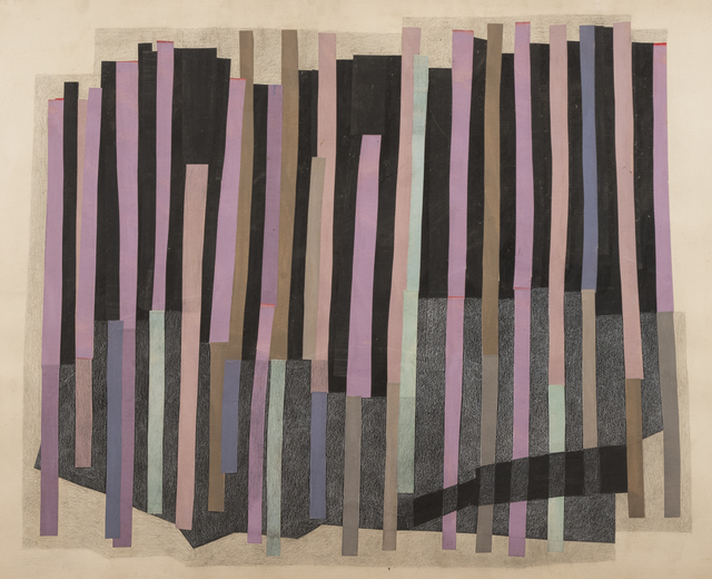 Margo Hoff, 'Forest Pool', 1965-1975, Mixed Media, Acrylic, pencil, paper collage on paper, Peyton Wright Gallery