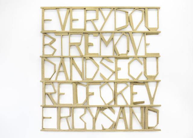 , 'Words 27,' 2013, Galerie Bart