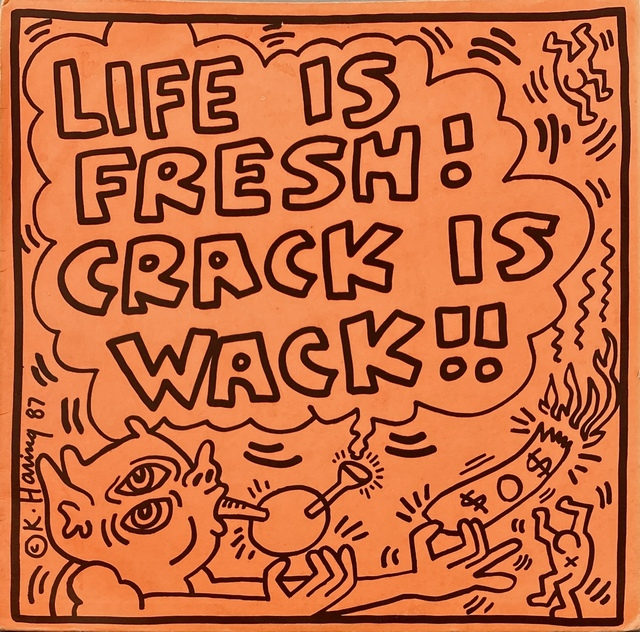 Keith Haring, 'Keith Haring Crack Is Wack record art ', 1987, Print, Offset lithograph on vinyl album cover, Lot 180