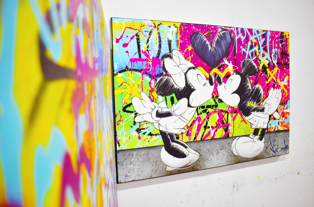Vincent Bardou, 'MINNIE & MICKEY', 2020, Painting, Painting on canvas on stretcher - aerosol paint, acrylic, Design By Jaler
