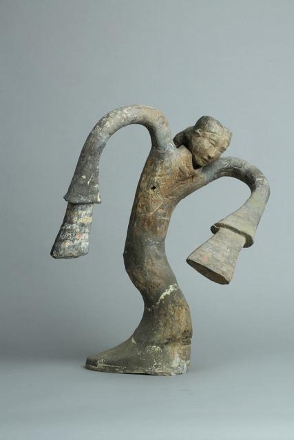 , 'Dancer figurine,' 206 BC -9 AD, Musée national des arts asiatiques - Guimet