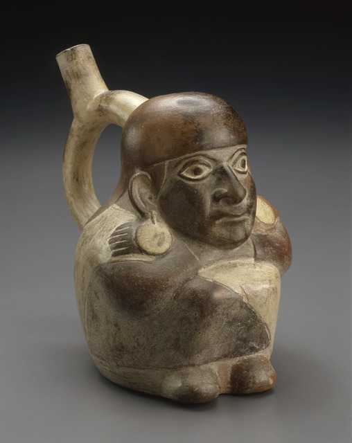'Vessel in the Form of a Seated Figure', 300-500, Indianapolis Museum of Art at Newfields