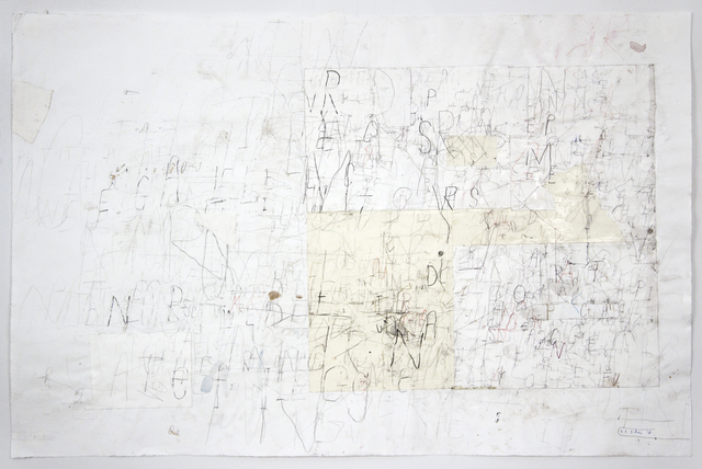 David Scher, 'Untitled (Lettering)', 2018, Drawing, Collage or other Work on Paper, Mixed media on paper, Pierogi