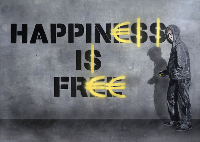 , 'Happiness is Free,' 2018, Mazel Galerie