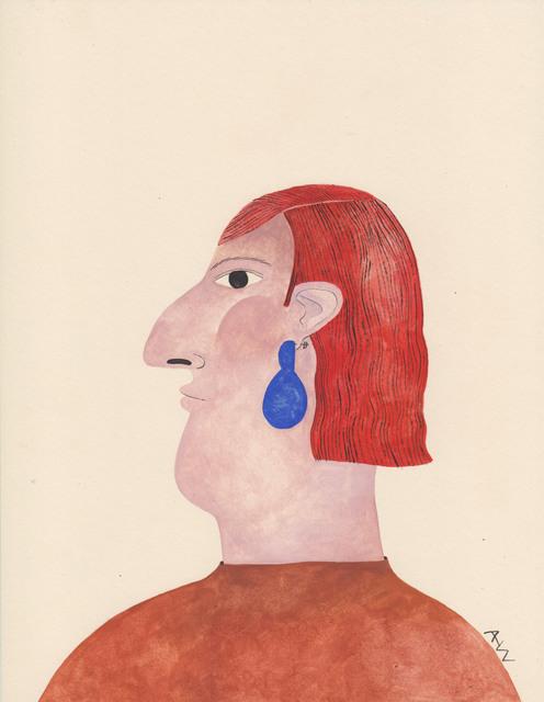 , 'Portrait with Blue Earring,' 2017, HARPY