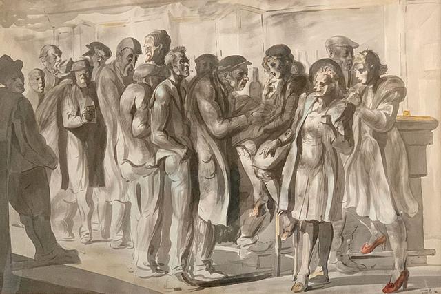 Reginald Marsh, 'Men and Women at Yellow Bar  Chinese', 1946, Greg Thompson Fine Art