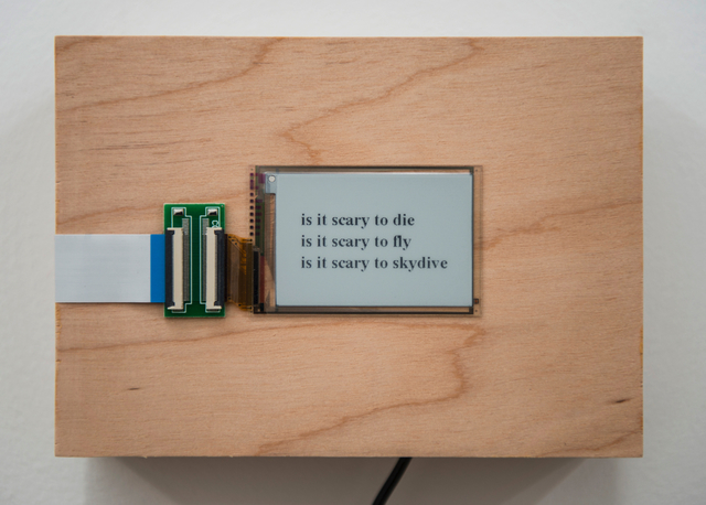 , 'is it scary to...,' 2015/2016, Postmasters Gallery