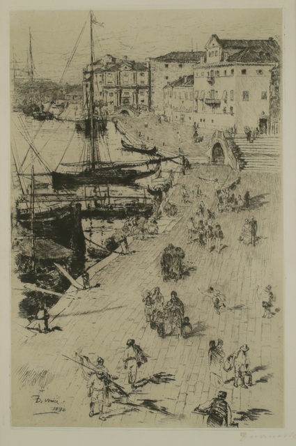 Frank Duveneck, 'Rive, Venice', 1880, Print, Etching, Private Collection, NY
