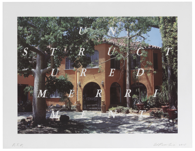 Ed Ruscha, 'Unstructured Merriment', 2016, Print, 19 color lithograph and screenprint, Richard Levy Gallery